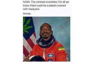Snoop Dogg wearing spacesuit meme