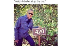 Obama 420 sign meme